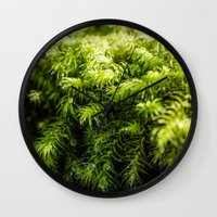 moss Wall Clocks featuring Moss by Michelle McConnell