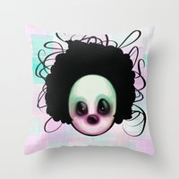 clown Throw Pillows featuring CLOWN by Andy Fairhurst Art