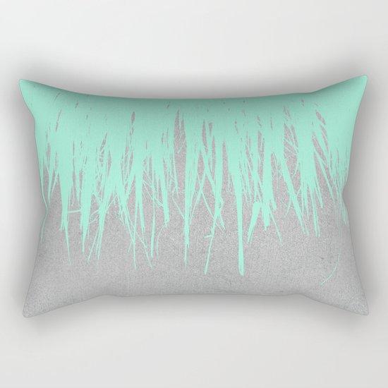 Fringe Concrete Mint Rectangular Pillow