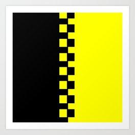 Yellow & Black Art Print