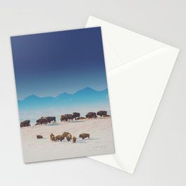 Blue Mountains Bison Stationery Cards