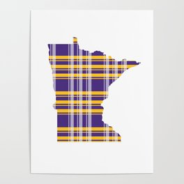 Minnesotans Love Football Poster