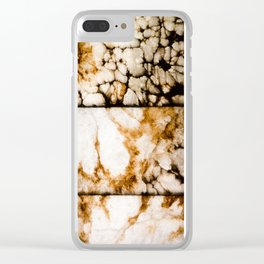 Weathered Alabaster - Grittier Clear iPhone Case