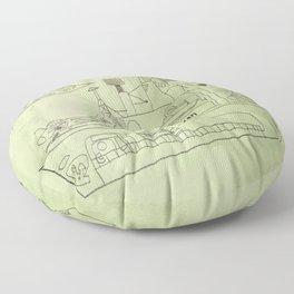 The USS Ryan Carrier Floor Pillow