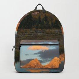 Sunrise On The Snake River Backpack