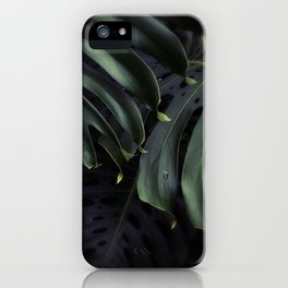 Moody Monstera iPhone Case