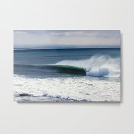 Jeffreys Bay wave at Super Tubes Metal Print