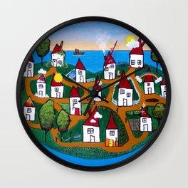 Dream House Island Wall Clock