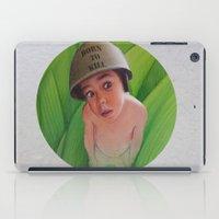 kill la kill iPad Cases featuring Born to kill by Magdalena Almero