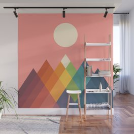 Rainbow Peak Wall Mural