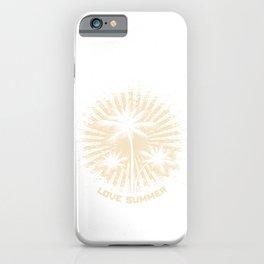 Love Summer Palm Trees Sun Rays iPhone Case