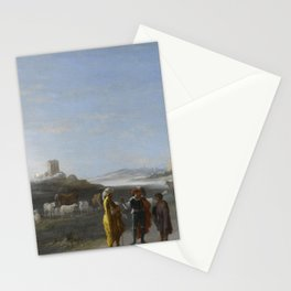 An Italianate Landscape with an unidentified subject from the Old Testament, Cornelis van Poelenburc Stationery Cards