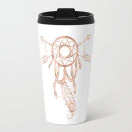 Mandala Rose Gold Pink Dreamcatcher Travel Mug