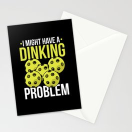 Pickleball Quote: I Might Have Dinking Problem Stationery Cards
