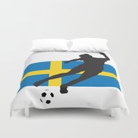 sweden Duvet Covers featuring Sweden - WWC by Alrkeaton