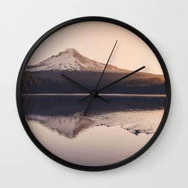 Wild Mountain Sunrise Wall Clock
