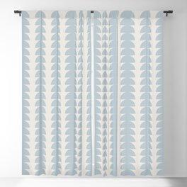 Maude Pattern - Blue Blackout Curtain