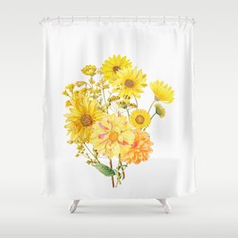 Vintage & Shabby Chic - Late Summer Flowers Shower Curtain