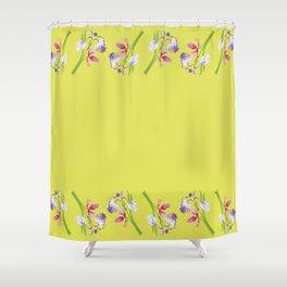 Beautiful Spring Irises Shower Curtain