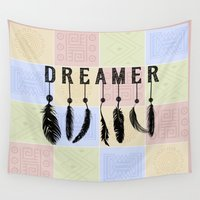 dreamer Wall Tapestries featuring Dreamer by DigiGrapics4u