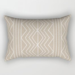 Cream Linen Beige Arrows Pattern Rectangular Pillow