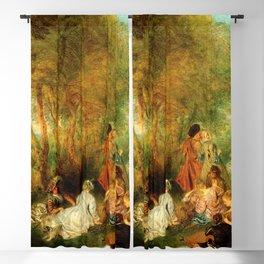 "Antoine Watteau ""The Feast of Love"" Blackout Curtain"