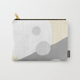 White circle Carry-All Pouch