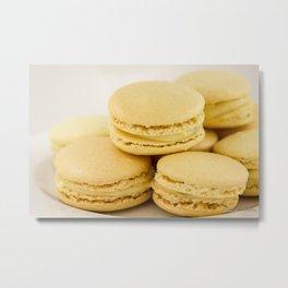 Sweet Lemon Macaron Dessert - Food Photography #Society6 Metal Print