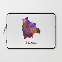 Bolivia in watercolor Laptop Sleeve