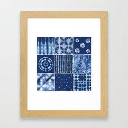 Shibori mix Framed Art Print