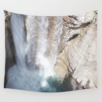allyson johnson Wall Tapestries featuring Johnson Canyon Waterfall by RMK Creative