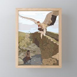 Angel in the Countryside Framed Mini Art Print