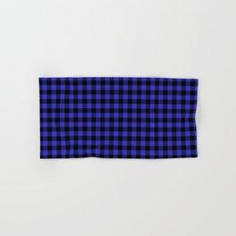 Original Cornflower Blue and Black Rustic Cowboy Cabin Buffalo Check Hand & Bath Towel