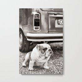 Helmut and his van Metal Print
