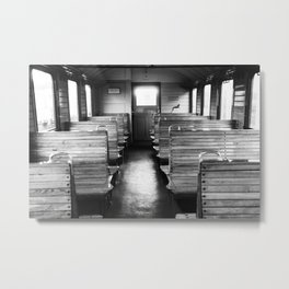 Old train compartment - Altes Zugabteil Metal Print