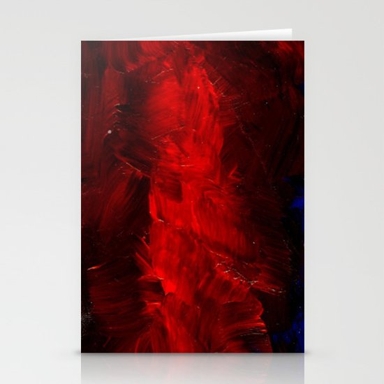 Red And Black Abstract Gothic Glam Chic Stationery Cards