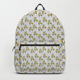 Modern, Blue, Yellow and White Skull Design Backpack