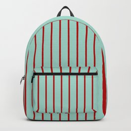 Holiday Stripes - Christmas Winter Backpack