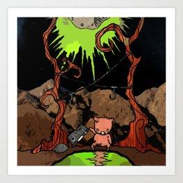 Dig Big Pig Art Print