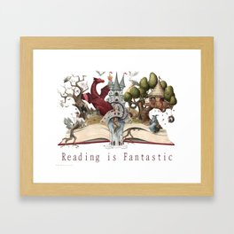 Reading is Fantastic Framed Art Print