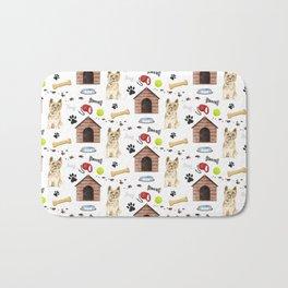 Cairn Terrier Half Drop Repeat Pattern Bath Mat