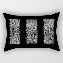 tri black Rectangular Pillow
