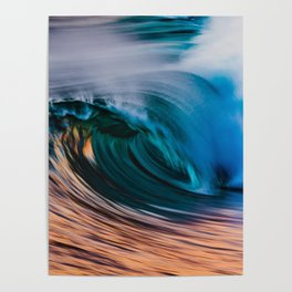 Slow Shutter Of Wave Poster