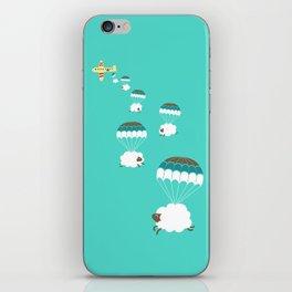 Sheepy clouds iPhone Skin