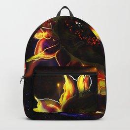 SUN flower black hole dark star Backpack