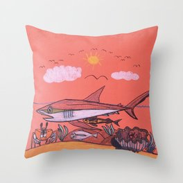 Galopagos Shark & Friends Throw Pillow