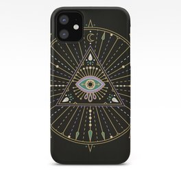 Evil Eye Mandala – Black iPhone Case
