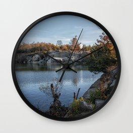Foliage at Halibut quarry Wall Clock
