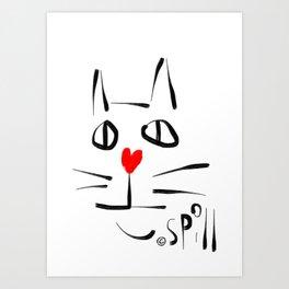 Meow More Art Print