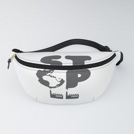 Stop Pollution - Eco Logo Design Fanny Pack